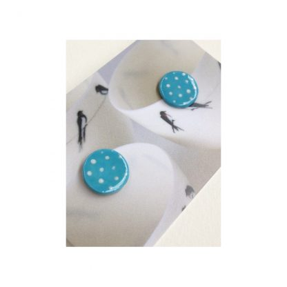 Dotty Turquoise & White Spot Earrings