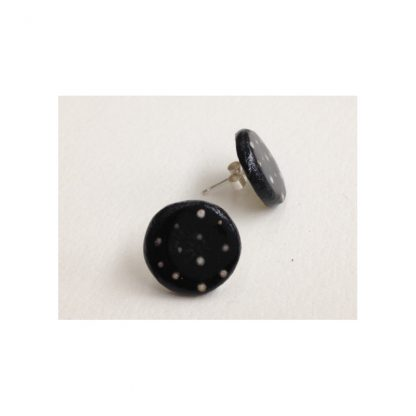 Dotty Black & White Spot Earrings