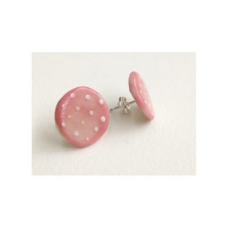 Dotty Pink & White Spot Earrings
