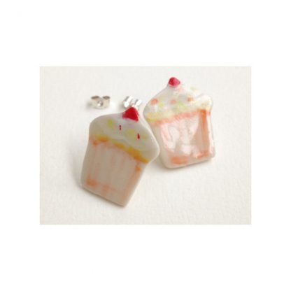 Brilliant Orange Cupcake Earrings