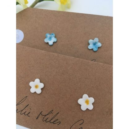 White forget-me-not flower Earrings