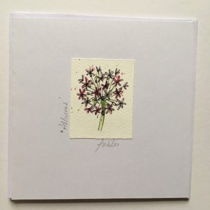 Allium hand drawn Greeting card