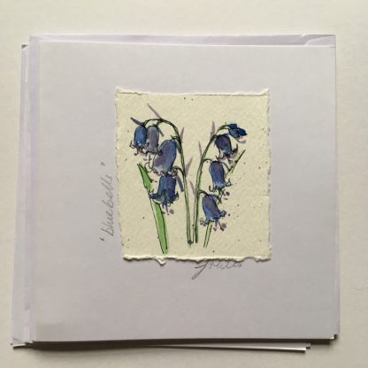 Bluebell hand drawn Greeting card