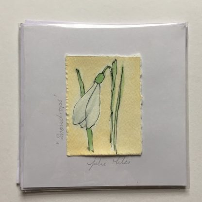 Snowdrop hand drawn Greeting card