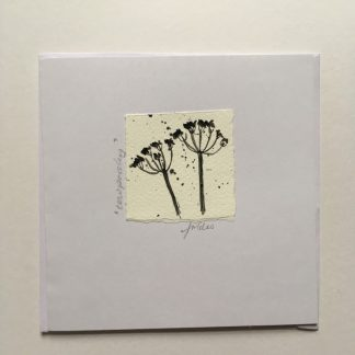 Cow Parsley hand drawn Greeting card