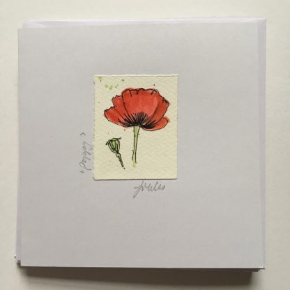 Poppies hand drawn Greeting card