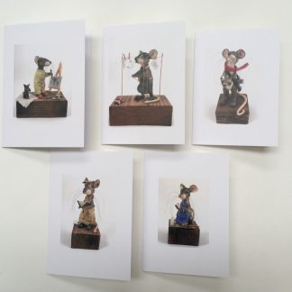 Set of 5 mill mice cards