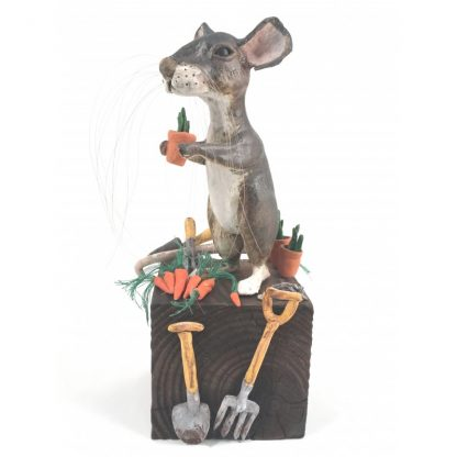 Mill Mouse greetings card - Gardening Mouse