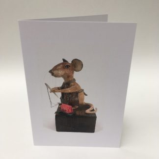 Mill Mouse greetings card - Stitcher Mouse