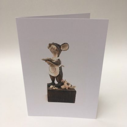 Mill Mouse greetings card - Baker Mouse