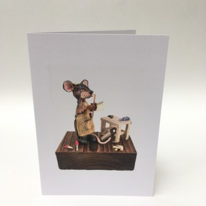 Mill Mouse greetings card - Carpenter Mouse