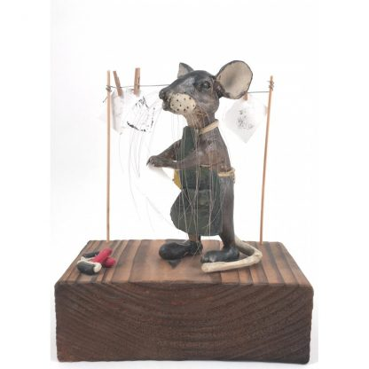 Mill Mouse greetings card - Printmaker Mouse