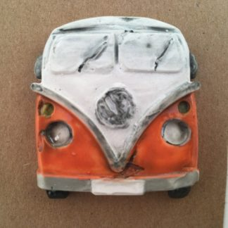 Porcelain Campervan Brooch